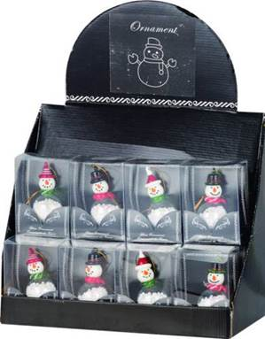 Glass Snowmen Ornaments with Snowballs Inside