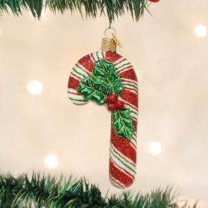 Glistening Candy Cane Ornament