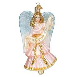 Gloria Nativity Angel Glass Ornament