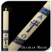 Gloria Blue Paschal Candle