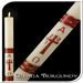 Gloria Burgundy Paschal Candle