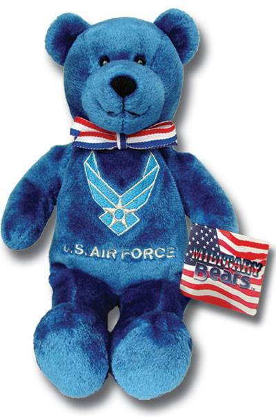 God Bless Our Airforce military gift, airforce gift, service gift, holy bear, airforce bear, plush bear, keepsake, solider bear, 27929