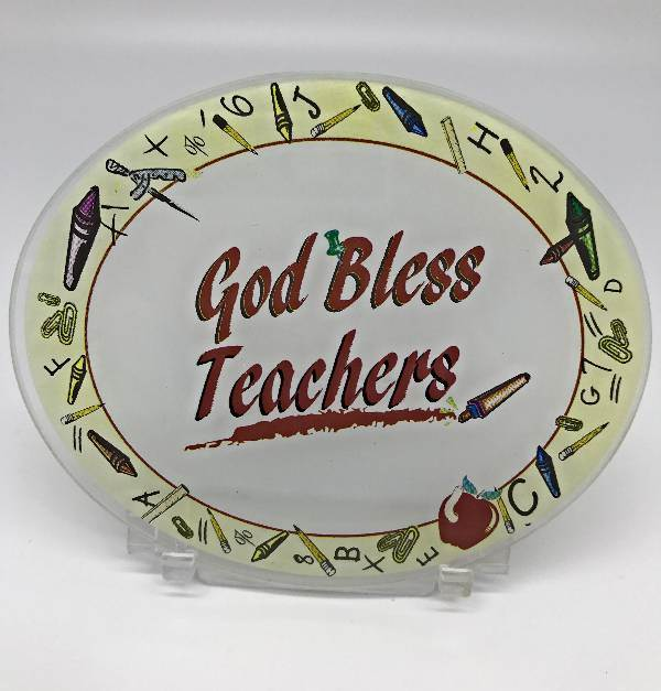 God Bless Teachers Desk Stand