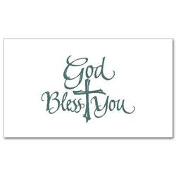 God Bless You Notecards, Pkg/20