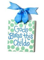 Boy Bless this child Door Plaque