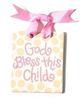 Girl Bless this child Door Plaque