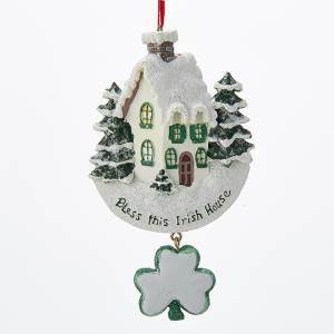 God Bless this Irish House Ornament
