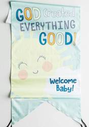 God Created Everything Good Door Banner