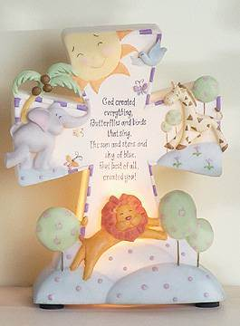 God Created Everything Nightlight new baby, new baby gift, baptism gift, baptism, christening, christening gift, child nightlight, baby nightlight,