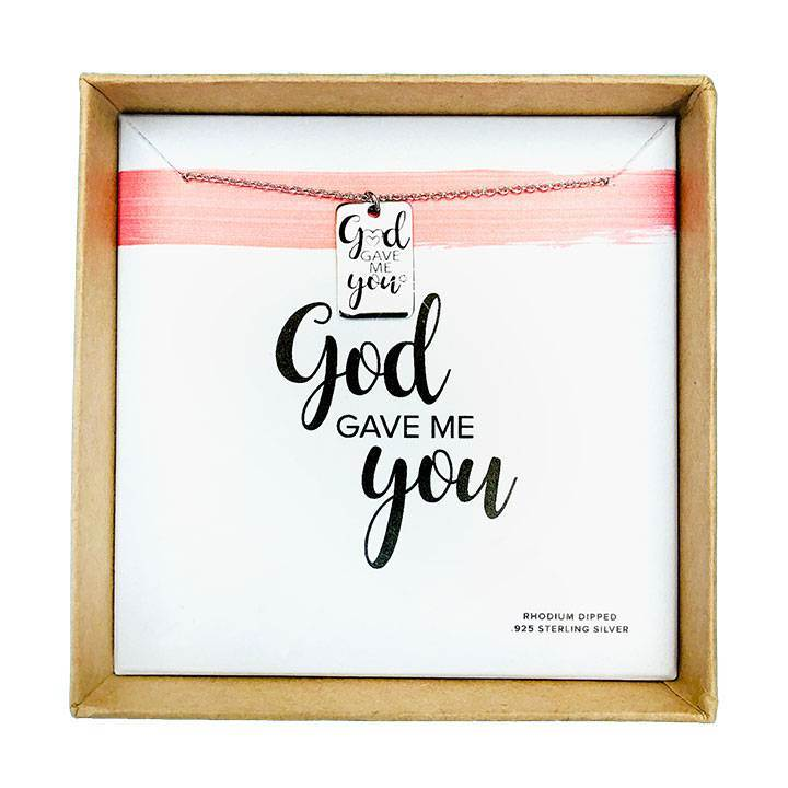 God Gave Me You Necklace Silver