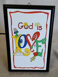 "God Is Love 4.5""x6.5"" Plaque 