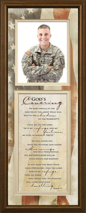 God's Covering Photo Frame Wall Plaque