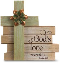 Gods Love Cross Plaque