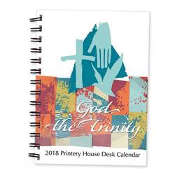 God the Trinity 2018 Desk Calendar
