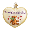 Godchild Heart Glass Ornament