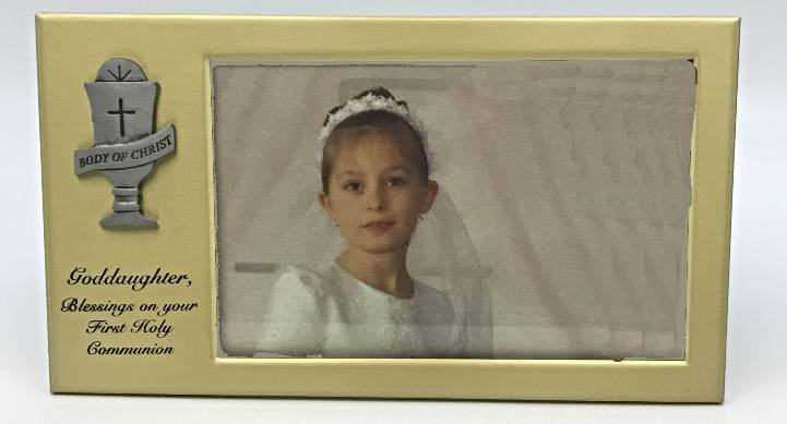 Goddaughter First Communion Frame communion frame, goddaughter frame, goddaughter gift, girl gift, holy commuion gift, sacramental gif,t bras frame,SP18-120