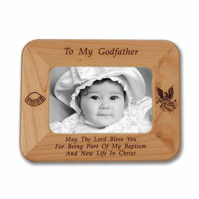 Godfather Laser Engraved Maple Wood Photo Frame