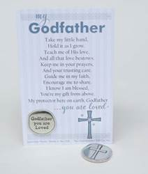 Godfather Pewter Coin with Sentiment Card