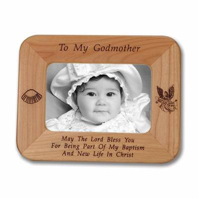 Godmother Laser Engraved Maple Wood Photo Frame god mother gift, godmother gift, godmother present, god mother present, godmother keepsake, god mother keepsake, god mother frame