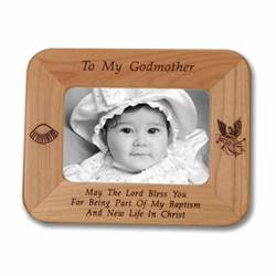 Godmother Laser Engraved Maple Wood Photo Frame
