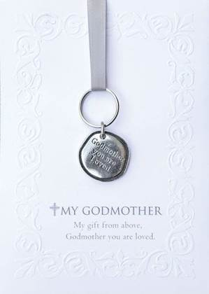 Godmother Pewter Keychain/Gift Card Set