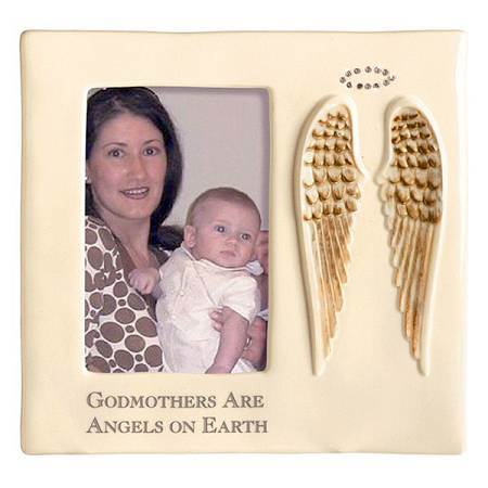 Godmothers Are Angels Frame frame, baby frame, shower gift, new baby gift, picture frame gift, baptism gift, christening gift, godparents frame, godparents gift, godmother, 469220
