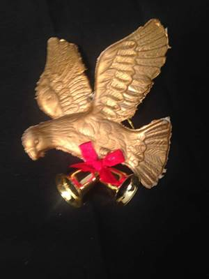 Gold Dove with Bells Ornament, Pack of 12