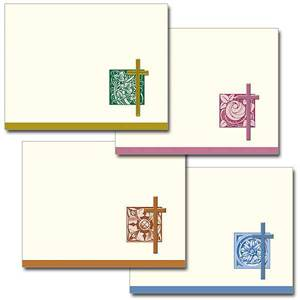 Gold Foiled Cross Notecards, Pkg/12