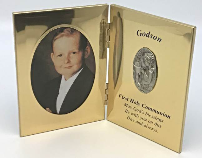 Gold Godson First Communion Frame*WHILE SUPPLIES LAST*
