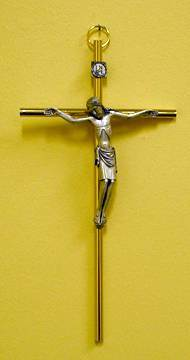 Gold Metal Cross Silver Corpus
