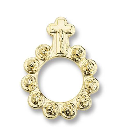 Gold Metal Rosary Ring