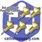 Gold Paschal Nails Set/5