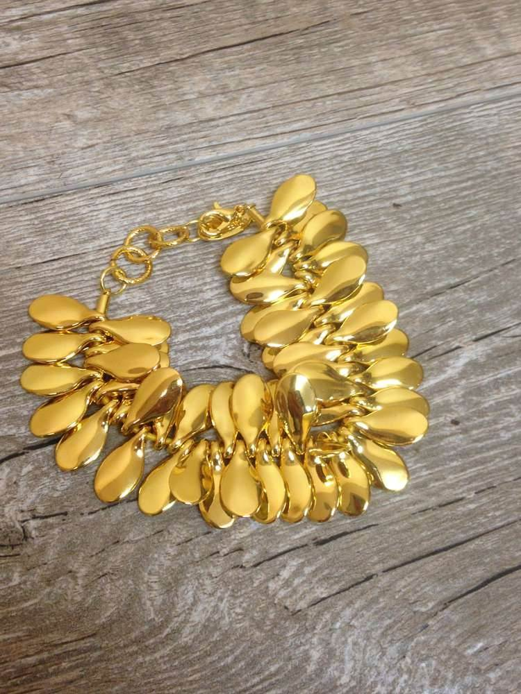 Gold Plated Petal Bracelet*WHILE SUPPLIES LAST*