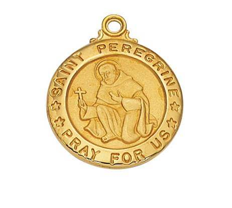 Gold/SS St. Peregrine Medal