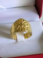 Gold over Sterling Silver Bishops Ring Made In Italy