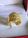 Gold over Sterling Silver Bishop's Ring Made In Italy