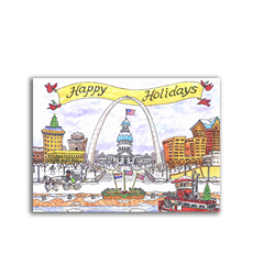 Goodnight St. Louis Happy Holidays Note Cards