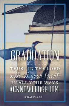 Graduation Bulletin Proverbs