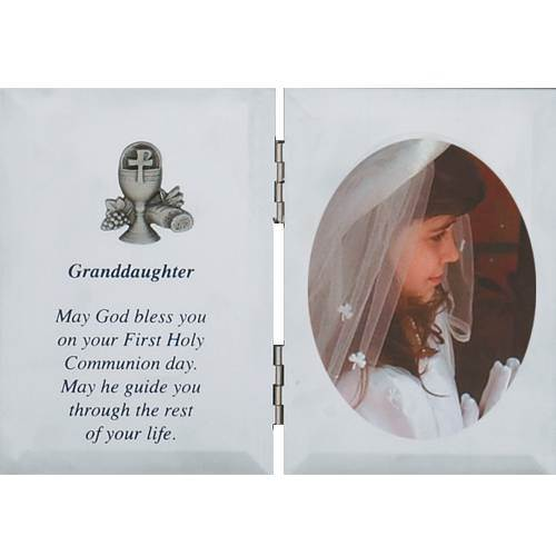 Silver Granddaughter First Communion Frame first communion frame, brass frame, first communion gift, holy eucharist gift, picture frame, grandaughter gift, girl gift