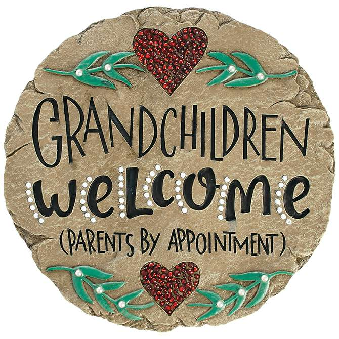 Grandchildren Welcome Garden Stone