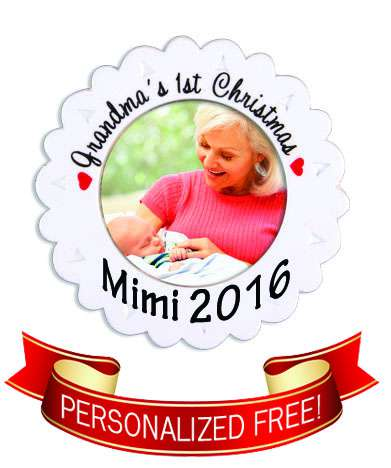 Grandmas First Christmas Personalized Ornament babys first christmas, christmas ornament, xmas ornament, grandma, grandmother, mimi, momo, grandparent