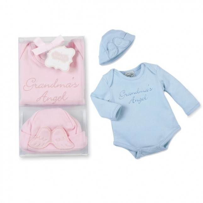 Grandmas  Angel Onesie/Hat, Size 0-3 Month