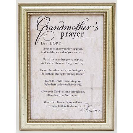 Grandmother's Prayer Poem Frame