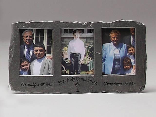 Grandpa/Grandma Triple Slate Frame