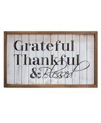 Grateful, Thankful, & Blessed Shiplap Sign
