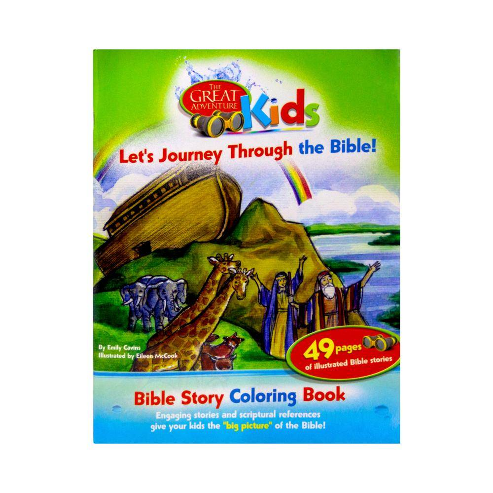 Great Adventure Kids: Let's Journey Through the Bible - Bible Story Coloring Book