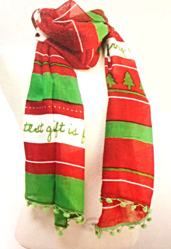 Greatest Gift Scripture Scarf