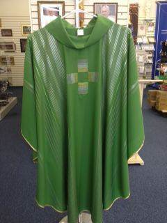 Green Chasuble  chasuble, church goods, textiles, church apparal,