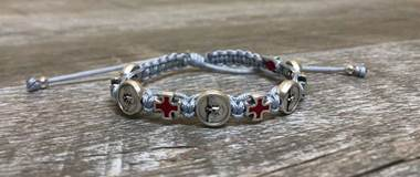 Grey Confirmation Blessing Bracelet Holy Spirit/Red Cross