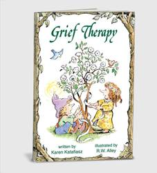 Grief Therapy A self-help book that has helped hundreds of thousands of readers. Its succinct, meaningful guidelines and hope-filled illustrations have reassured those who grieve that out of their pain can come profound, transform